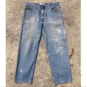 Men's Levi's Distressed 550 Blue Jeans W38 L32